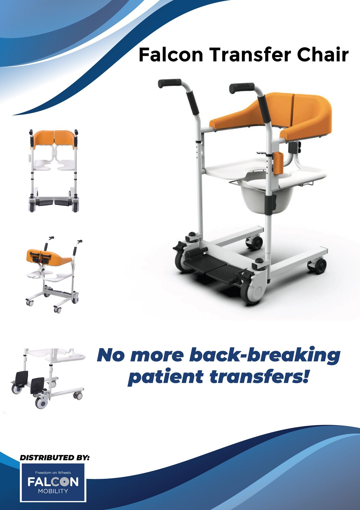The Falcon Transfer Chair S Is Good If The Patient Is Too Heavy For The Caregiver To Transfer Between The Bed Ch In 2020 Wheelchair Innovation Design Mobility Scooter