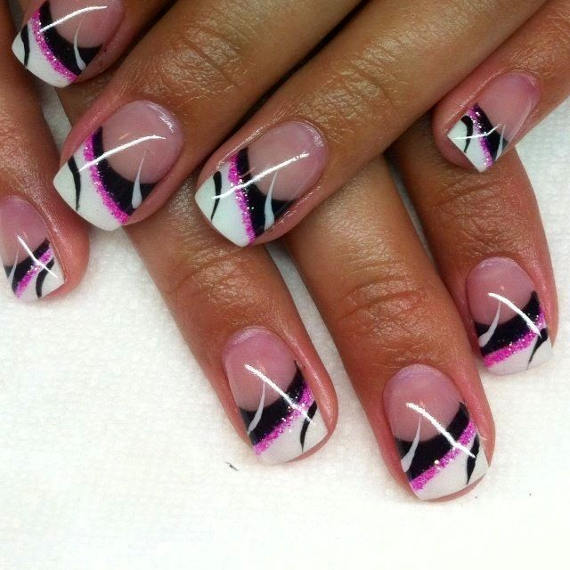 Nail design - Nail Design Nails Pinterest Nail Nail, Makeup And Black White