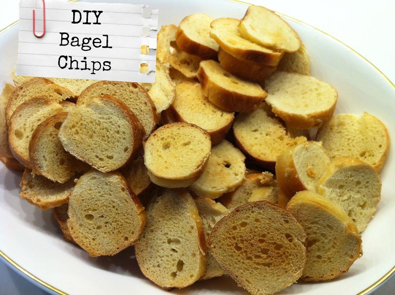 Easy DIY Bagel Chips...save money, reduce waste and impress your friends!