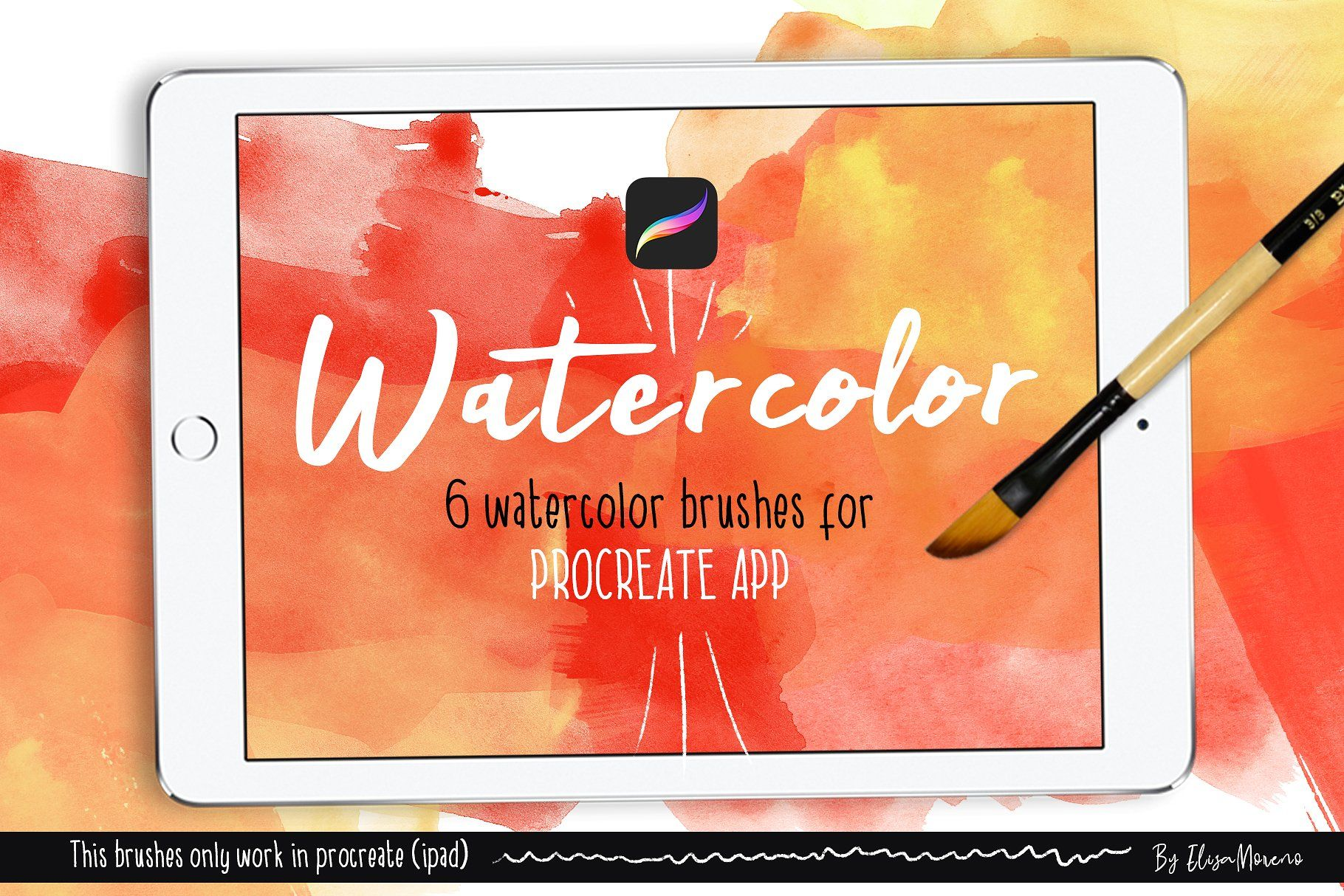 Watercolor Brushes Set For Procreate Free Resources In 2019