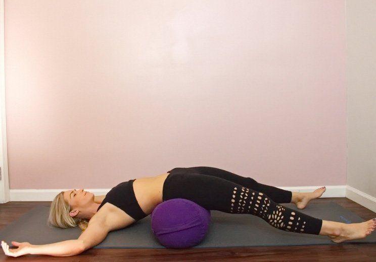 Melt Into This Restorative Yoga Routine To Lower Cortisol Slow Aging Restorative Yoga Yoga Routine Restorative Yoga Poses