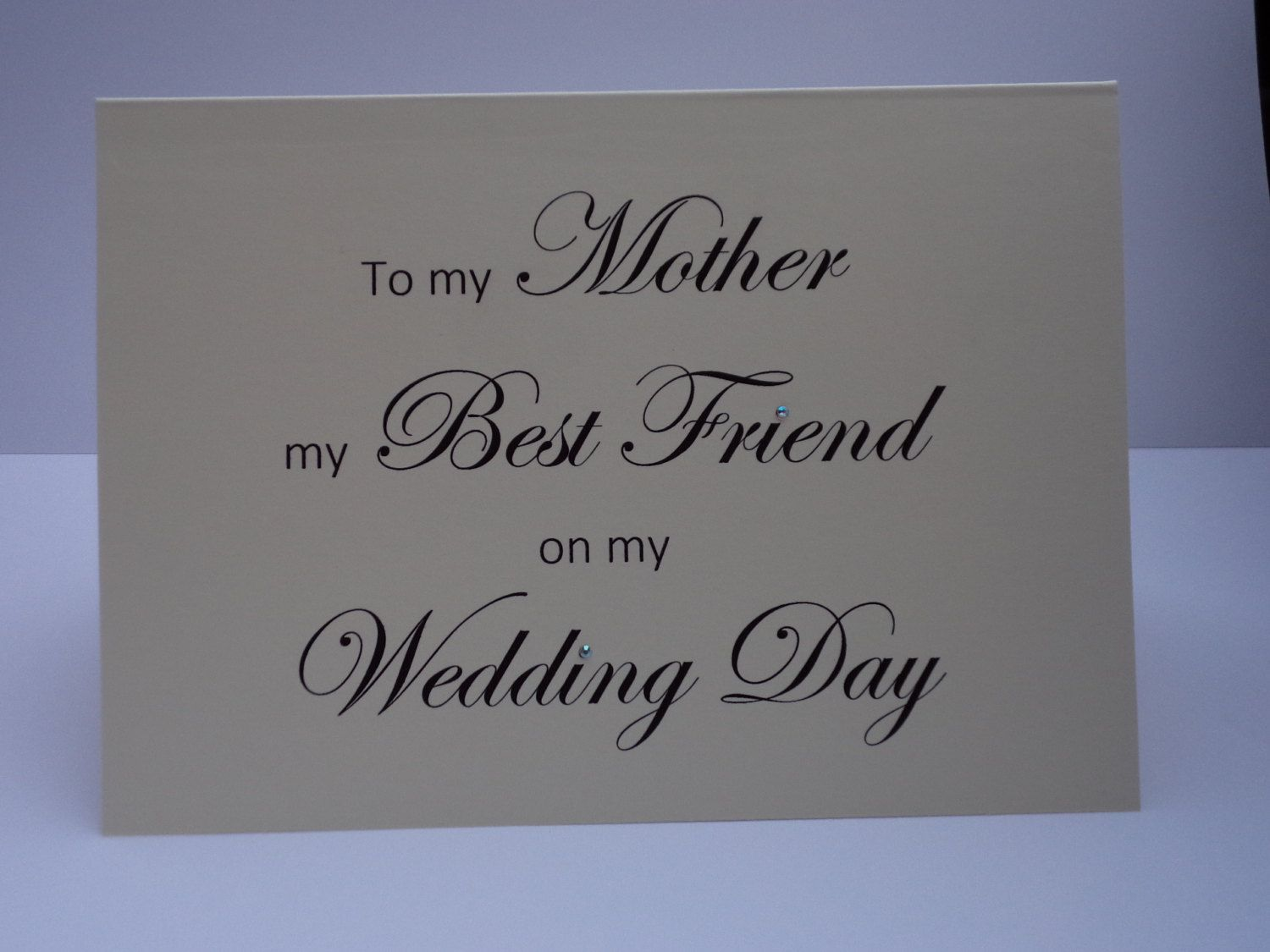 To My Mother On Wedding Day Handmade Card Designer Cards Personlised