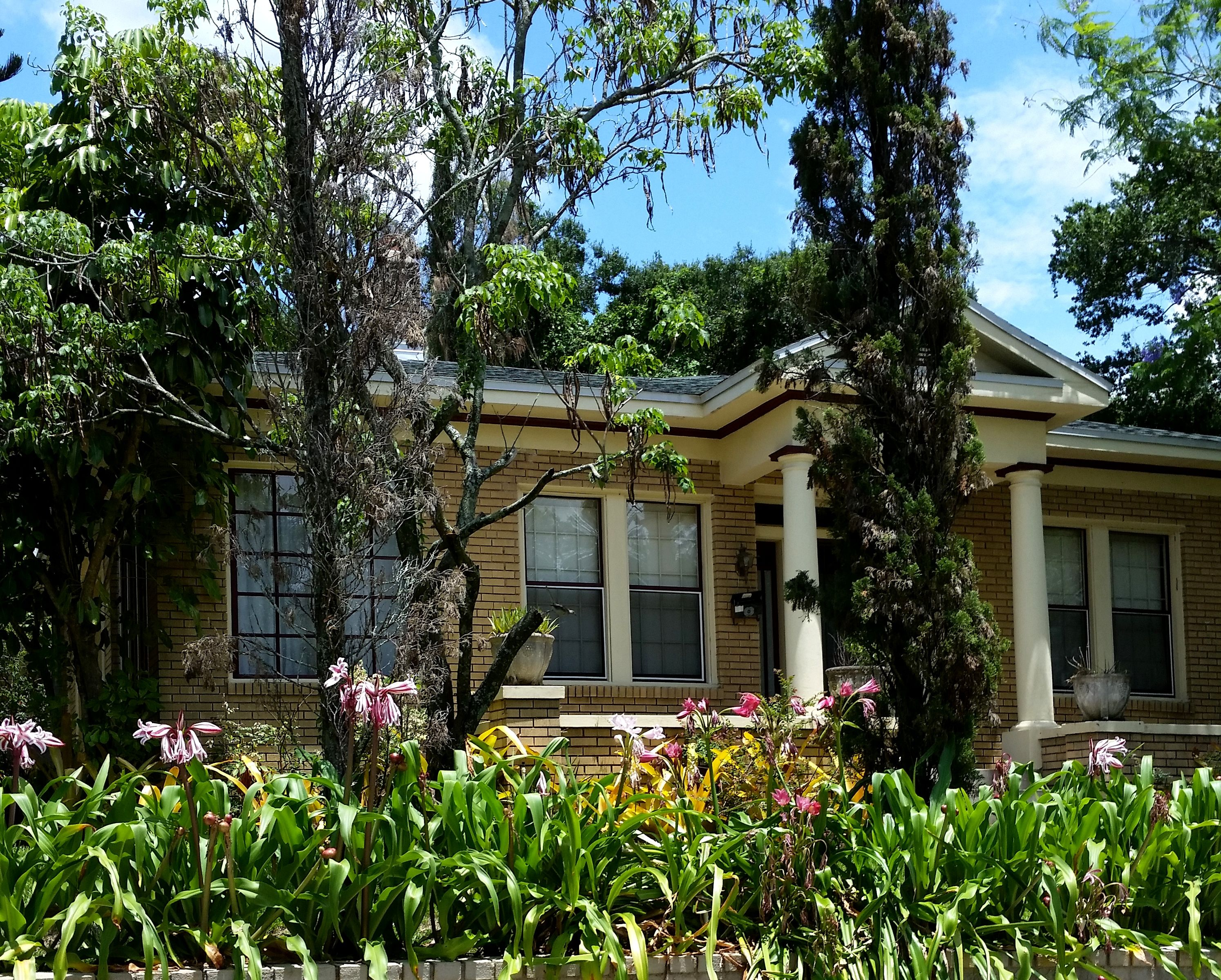 Brick Beauty With Lillies in Bloom, Find Seminole Heights