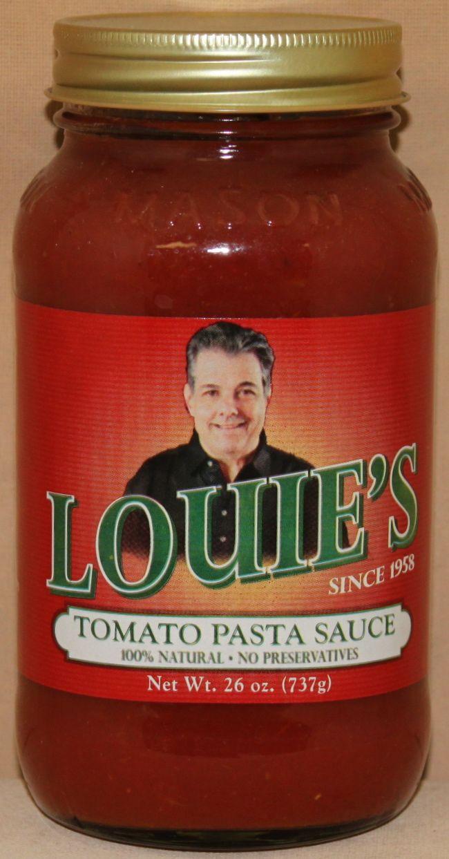 Louie S Tomato Pasta Sauce 26 Oz Tomato Pasta Tomato Pasta Sauce Pasta Sauce