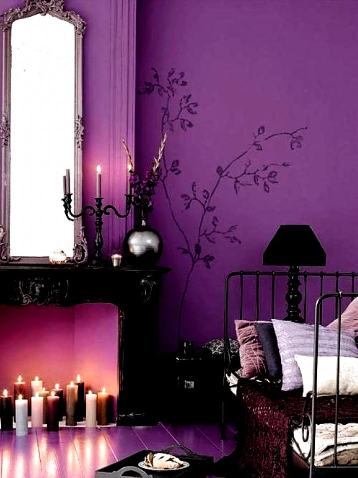Cozy purple room decor bedroom teenage in 2020 Purple