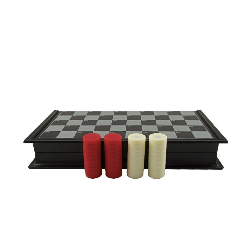 Easytoday Checkers Magnetic Folding Checkerboard High ...
