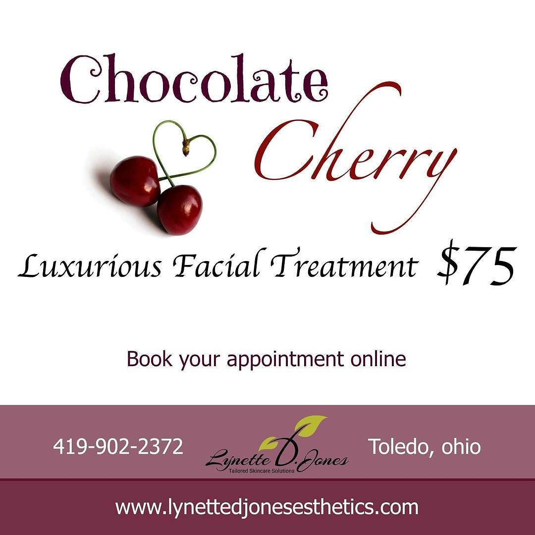 Experience this luxurious Chocolate & Cherry facial treatment.  book online at http://ift.tt/1W3WZdL  Lynette D Jones Esthetics 4428 Secor Rd 419-902-2372  #toledo #ohio #toledoohio #imageskincare #imagenation #dermaplaning #dermaplane #lynettedjones #lynettedjonesesthetics #datenight #skinporn #skincare #toledoskincare #brows #eyebrows #archaddicts #brazilian #brazilianwax #waxing #facial #facials #oxygen #oxygenfacial #imageoxygenfacial #valentines #happyvalentinesday #sexy