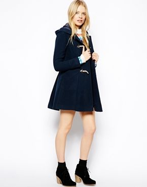 PETITE Exclusive Swing Duffle Coat | Duffle coat, Asos petite and ...