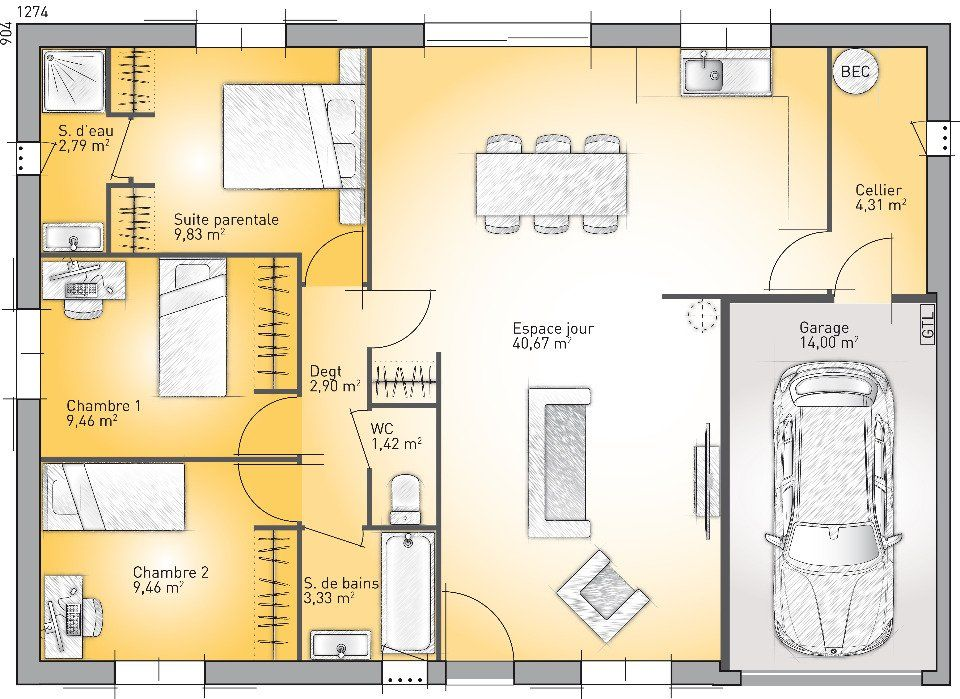 Plan achat maison neuve à construire - Maisons France Confort Optima - plan maison france confort