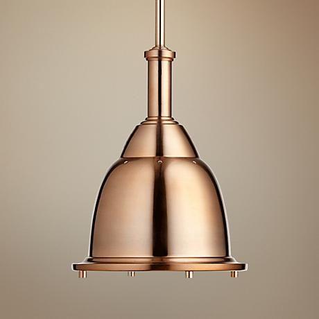 Quorum 10 W Satin Copper Mini Pendant