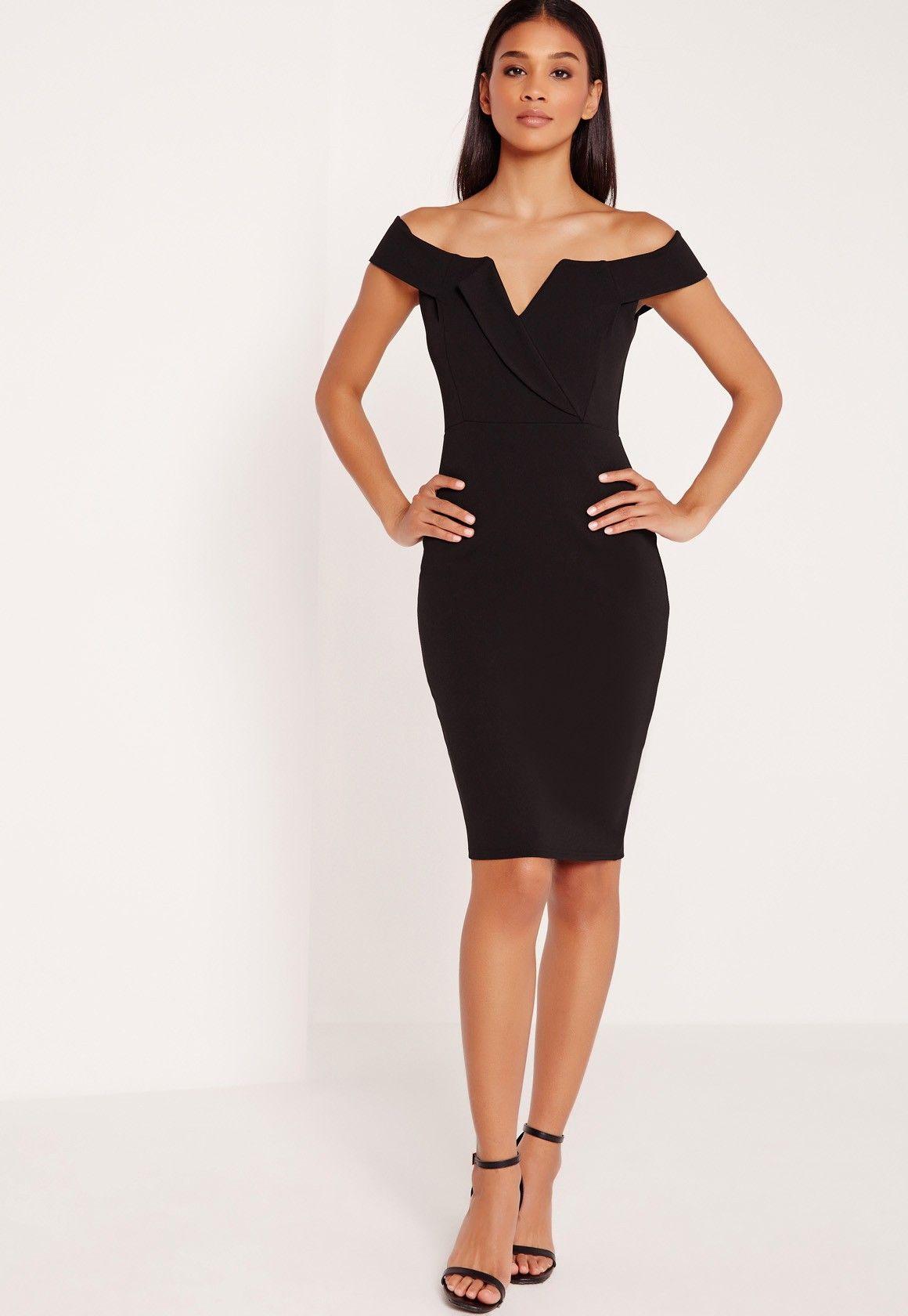 Élégante, chic et tellement féminine, cette robe moulante noire vous fera  une\u2026 http