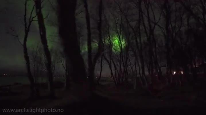 El típico paseo nocturno por Noruega