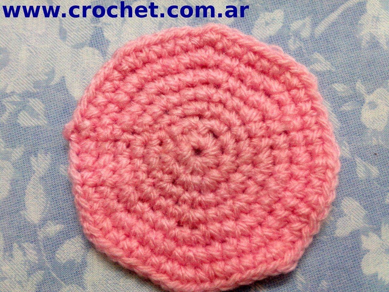Como tejer un circulo perfecto en tejido crochet tutorial paso a ...