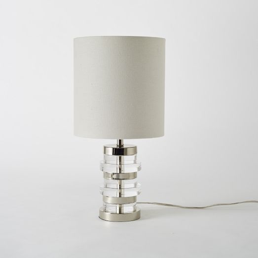 Clear Disc Table Lamp Small West Elm 129 Table Lamp Lamp Modern Table Lamp