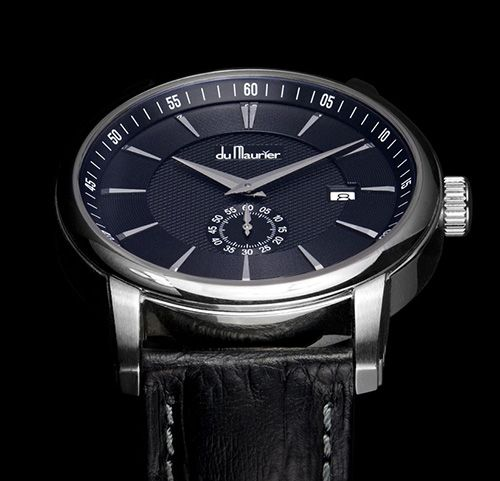 """The """"Daphne Signature"""" model (300 Pieces) The Maxim Black (50 Pieces) Du Maurier adds new models to collection (See more at:http://watchmobile7.com/articles/du-maurier-adds-new-models-collection) (6/7) #watches #dumaurier"""
