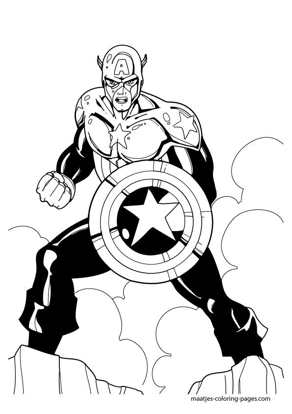 Bonito Página Para Colorear De Capitán América Escudo Fotos - Ideas ...