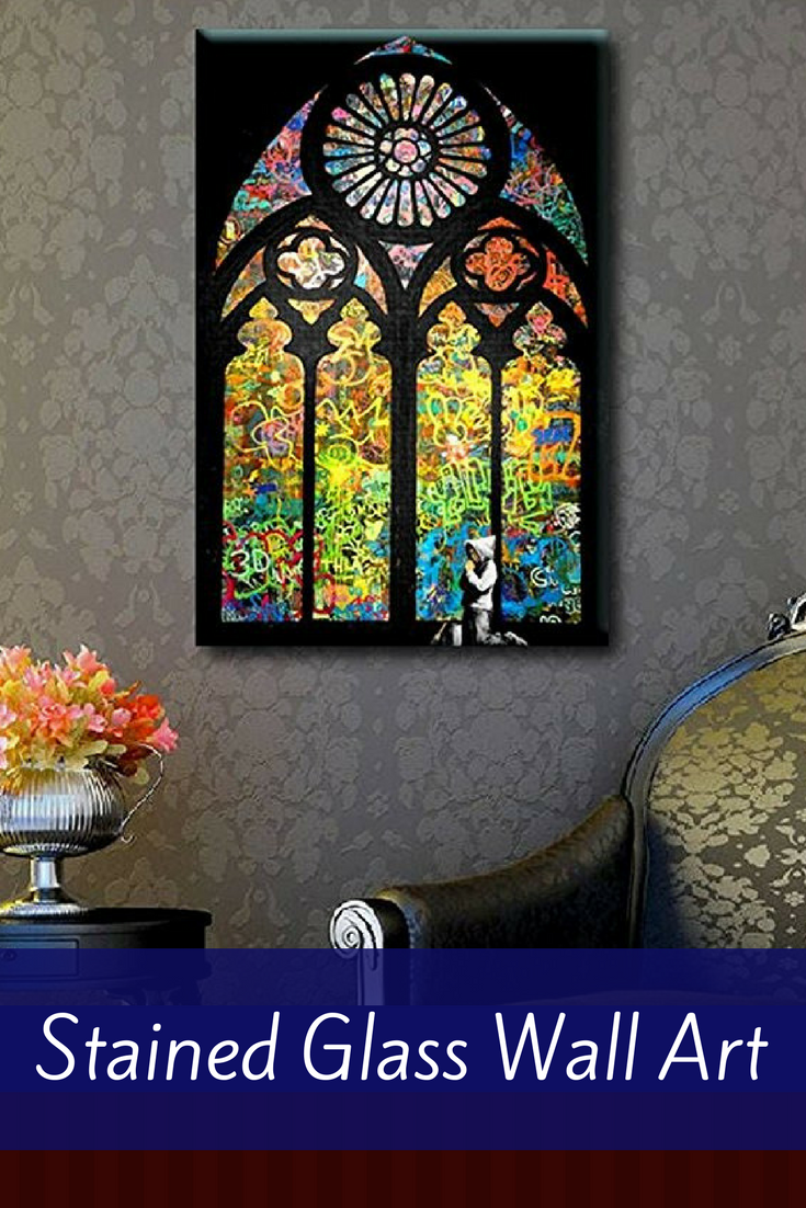 Extravagant trendy and elegant stained glass wall art decor wall