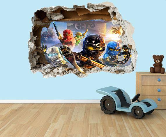 lego ninjago 3d effect graphic wall vinyl sticker decal | lego
