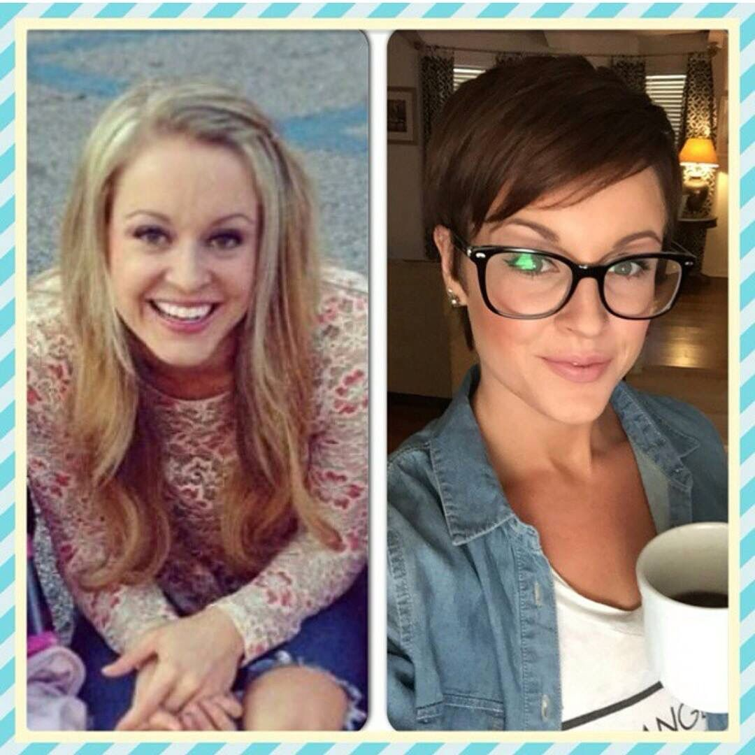Before And After Be Great Pinterest Pixies Pixie Cut And