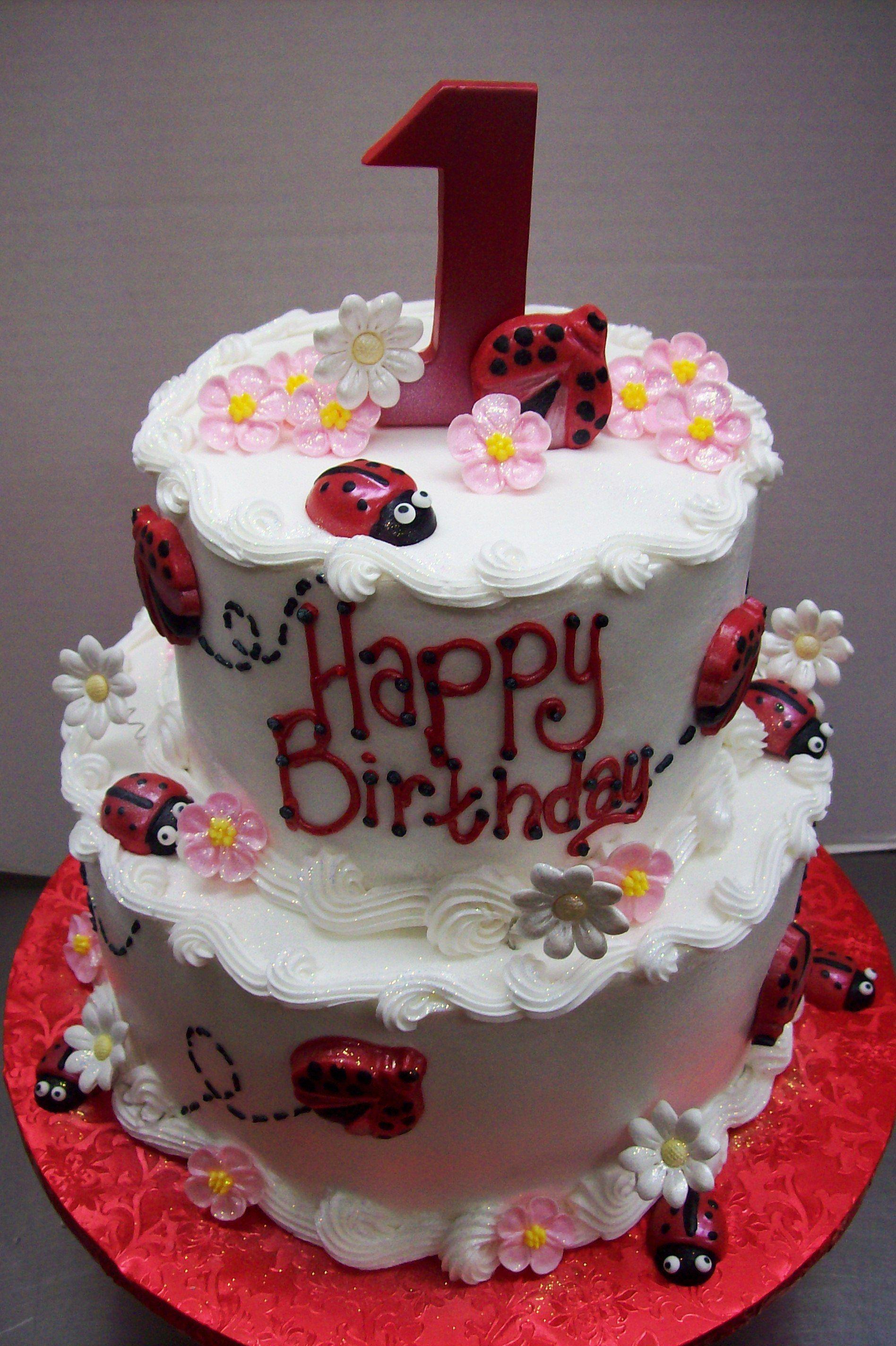 Lady Bug First Birthday Cake Cake Pinterest Lady Bugs