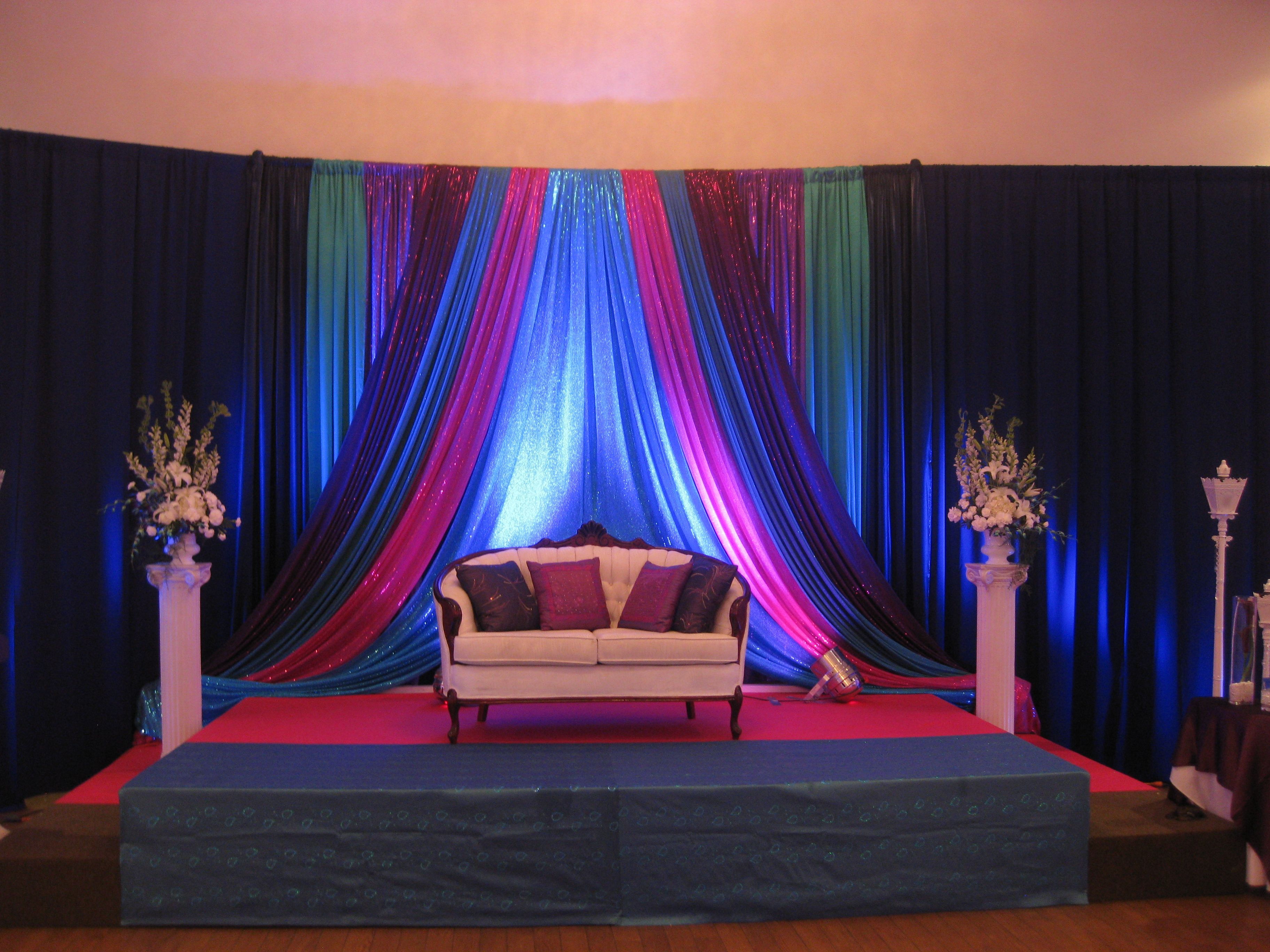 wedding stage decoration pics%0A An indian wedding lots of fun traditions and bright colours