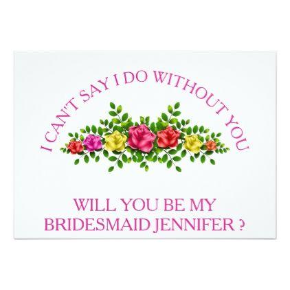 Will You Be My Bridesmaid Card Wedding Bridesmaid Proposal