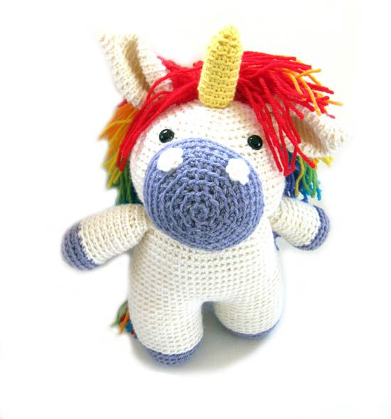 You guys! Crocheted unicorn with rainbow mane. *falls over* | must ...