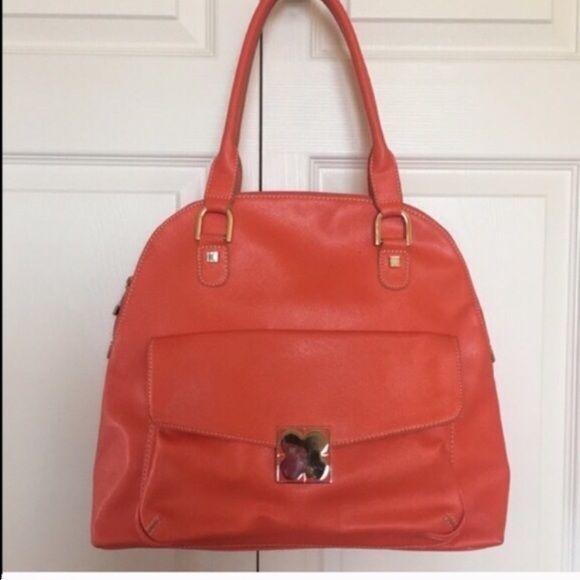 Liz claiborne orange handbag 57293386582b2