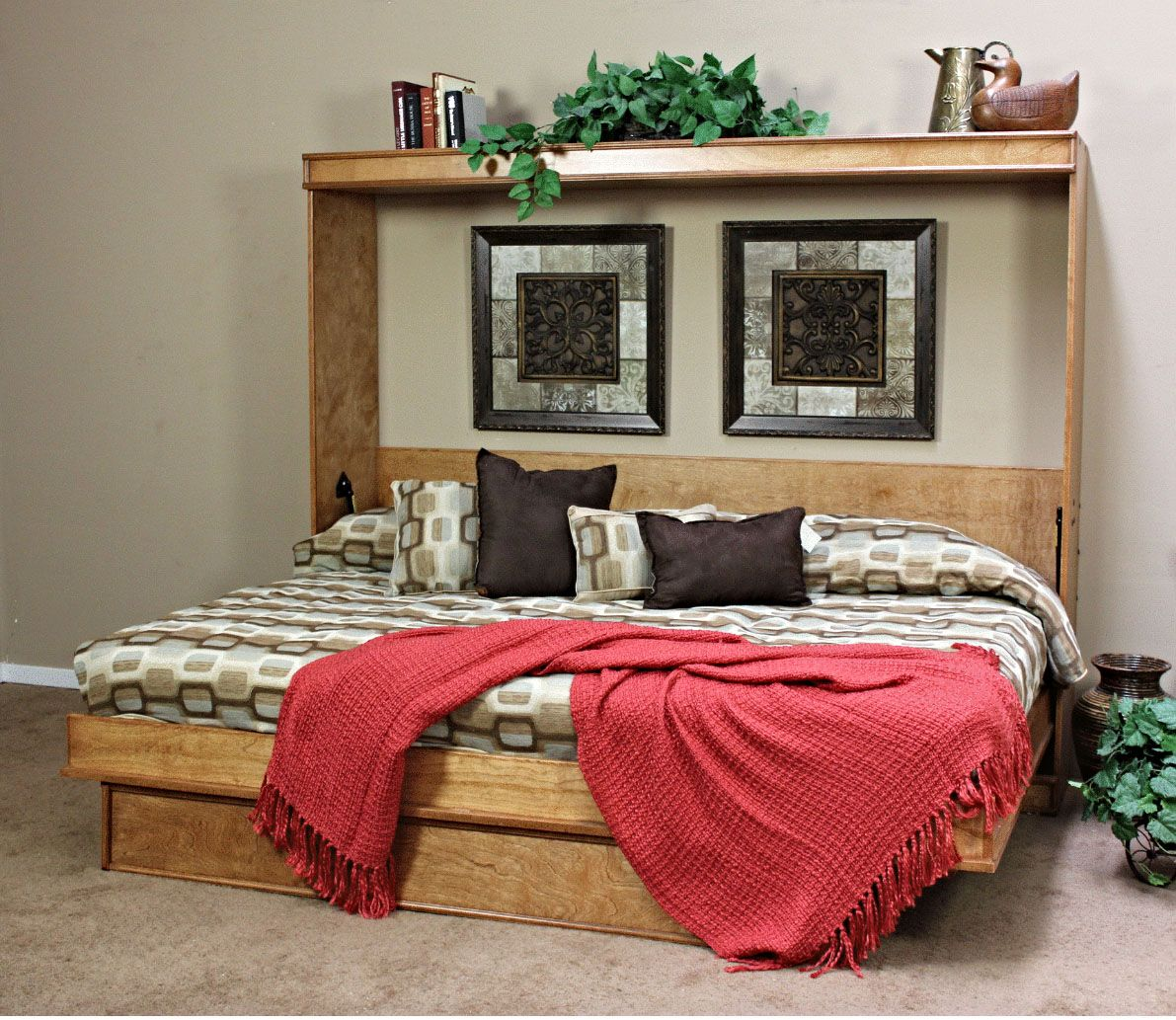portola birch horizontal queen size wall bed by wallbeds on wall beds id=88025