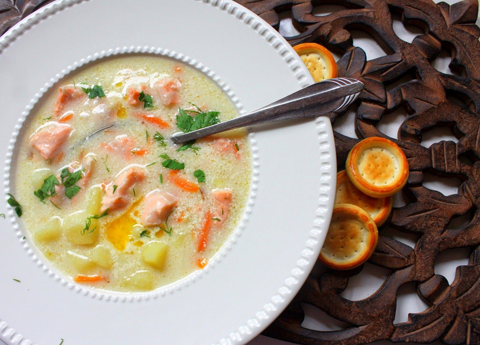 сливочный суп из семги рецепт с фото состав ска