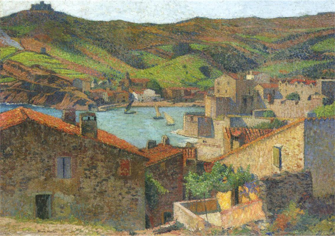 The Village at Port Collioure, Henri Martin