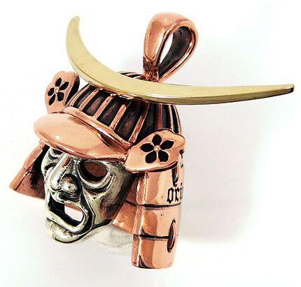 Japanese Samurai Warrior Mask | samurai pendant
