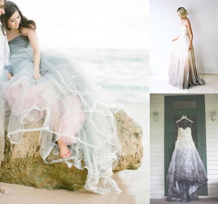 Ombre and Dip Dye Wedding Dresses | Alternative wedding dresses ...