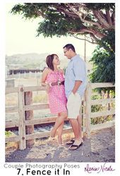 Couples Photography Poses Leaning on the Fence Together  Couples Photography Poses Leaning on the Fence Together