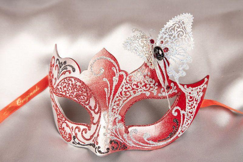 Black Masquerade Mask Venetian Masked Ball Papillon Italian Carnival Fancy Dress