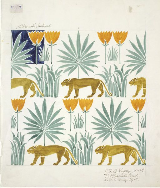 Textile design | C. F. A. Voysey | V&A Search the Collections