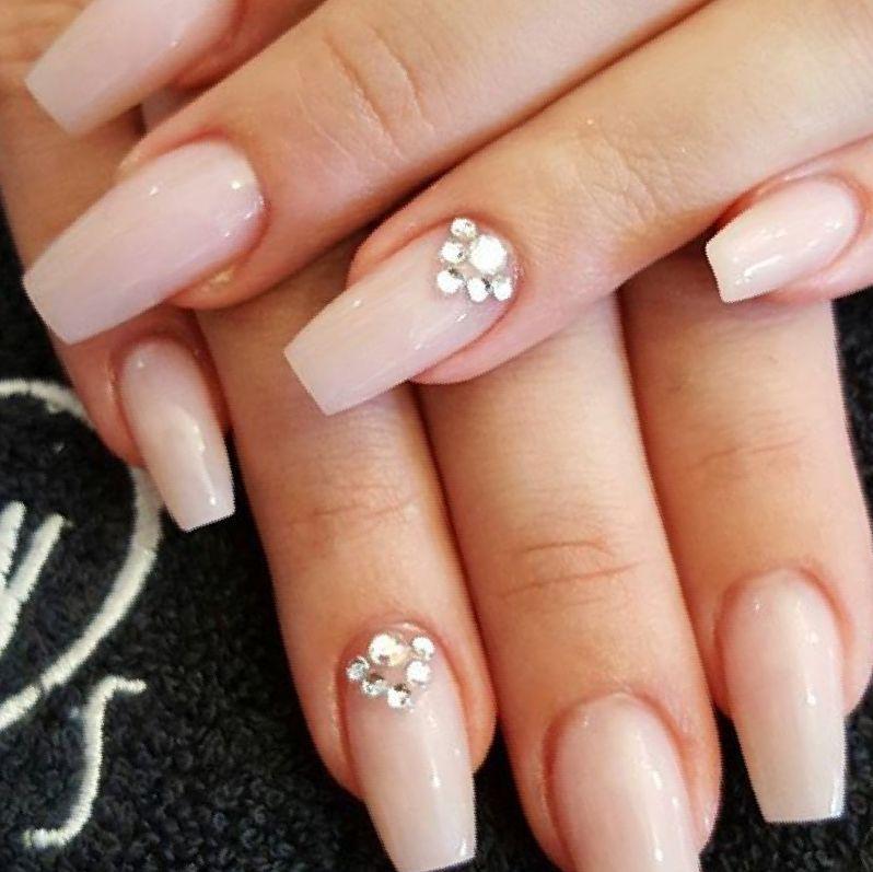 Nail nails nude fake nails nude acrylic nails nail art pics nail art ...