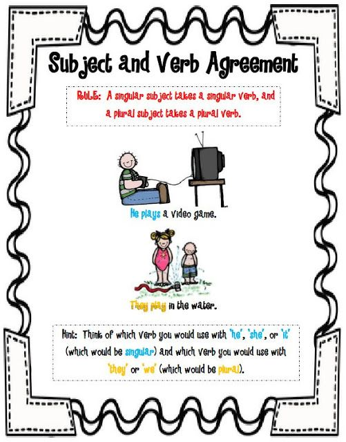 Subject And Verb Agreement Students Pinterest Teacher And Students