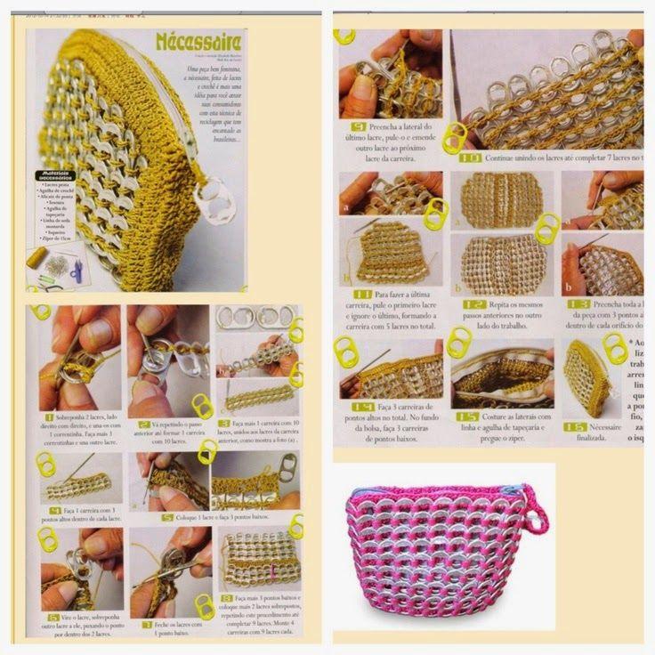 Monedero reciclado tejido con ganchillo - paso a paso Todo crochet