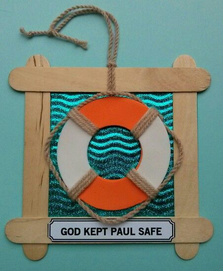 Lifesaver craft for 'Shipwrecked' Messy Church 2014