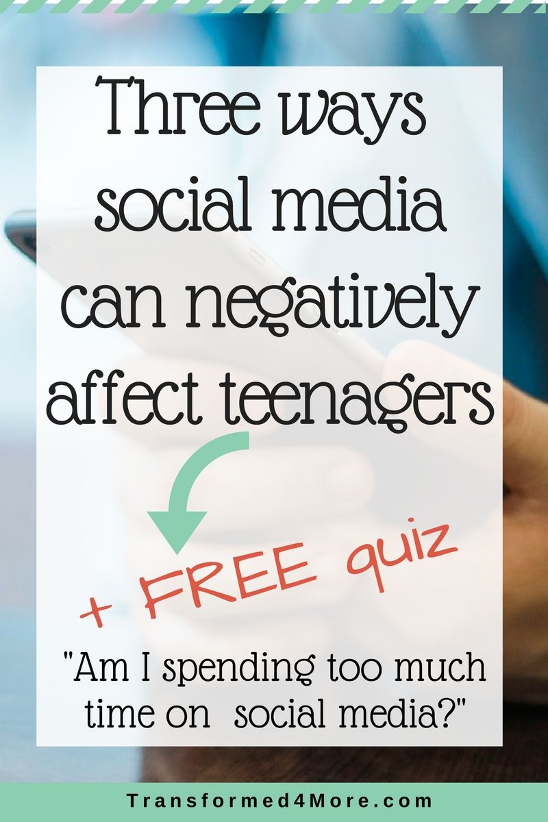 Social Media Negative Affects Teenagers| Teenager Issues| Christian Teens|  Transformed4More.com| Ministry for Teenage Girls