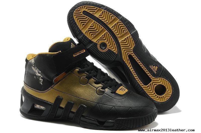 Black/Gold Adidas Kevin Garnett VI Kevin Garnett Shoes 2013 For Wholesale