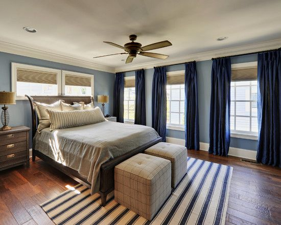 Interesting Blue Curtains Ideas For Bedroom Design Traditional