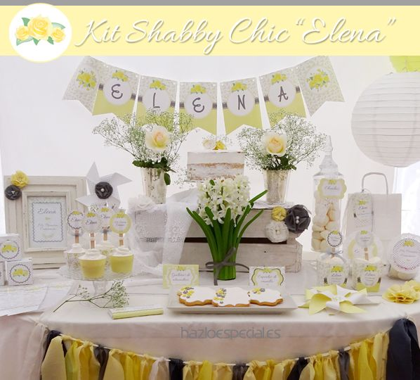 Decoracion comunion shabby chic first communion - Decoracion estilo shabby chic ...