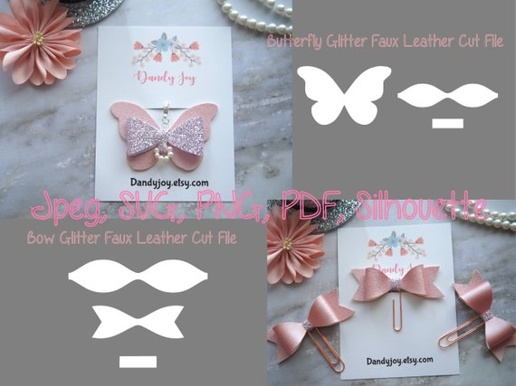 diy butterfly bow template leather