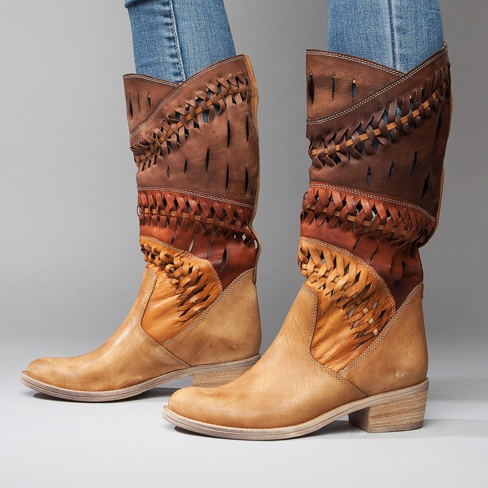 6eb72e3722d Summit White Mountain Shoes Tulia Tan Suede Italian Leather Boot ...