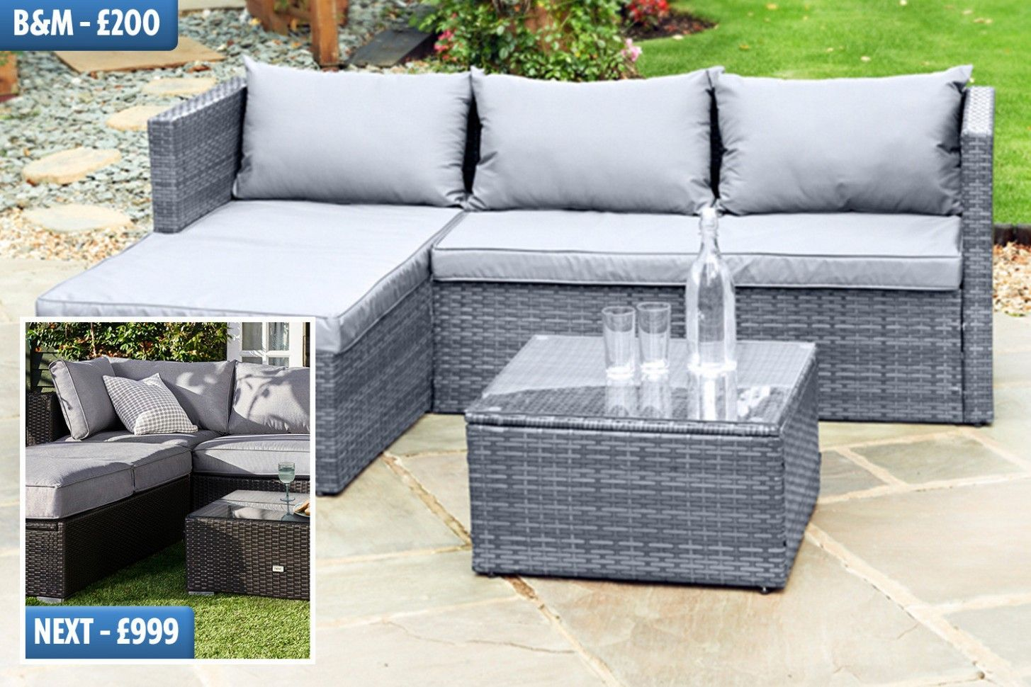 Next Day Delivery Garden Sofa in 6  Cheap garden furniture