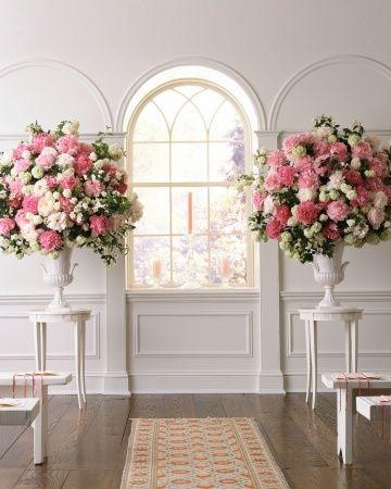 55 Clever Ways To Trim Your Wedding Budget Wedding Ceremony Flowers Ceremony Arrangement Wedding Flower Arrangements
