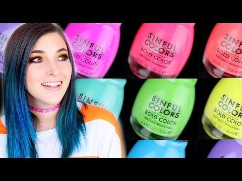 Sinful Colors Sporty Brights (Sneaker Texture) Nail Polish Swatches!    KELLI MARISSA
