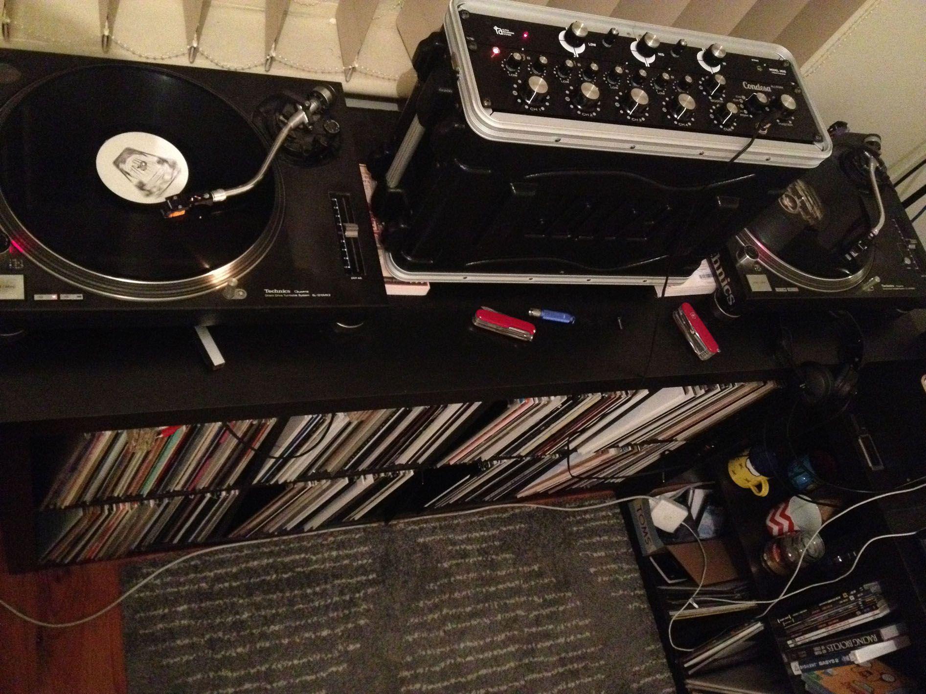 Condesa Rotary Mixer Vinyl Setup